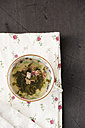 Tea cup of Chinese Green tea with rose petals - MYF000673