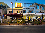 Italy, Sicily, Province of Palermo, Mondello, Restaurants in the evening - AM003114