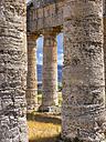 Italy, Sicily, Calatafimi, columns of the Doric temple of Segesta - AMF003131