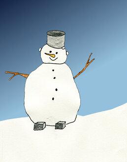 Drawed snowman - CMF000183