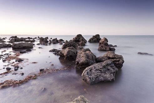 South America, Brazil, Recife, Ponta de Pedras, rocky coast - FPF000017