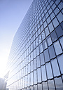 Germany, North Rhine-Westphalia, Duesseldorf, part of glass facade of modern office building - GUFF000010