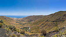 Spain, Canary Islands, Lanzarote, Maguez, View to mountains near Haria - AMF003170