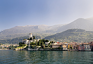 Italy, Veneto, Malcesine with Castello Scaligero - LVF002174