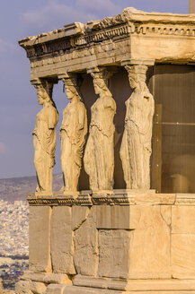 Greece, Athens, Acropolis, Erechtheion temple with caryatids - THAF000877