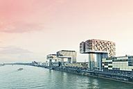 Germany, Cologne, crane houses at River Rhine - MEMF000466