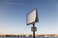 Germany, Lower Saxony, Wilhelmshaven, traffic mirror - EVGF001000