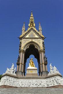 UK, London, Albert Memorial, gilded statue of Prince Albert - MIZF000658