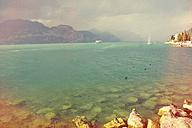 Italy, Lake Garda, Brenzone, ferry - LVF002257