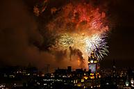 United Kingdom, Scotland, Edinburgh, Fireworks - SMAF000257