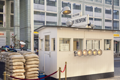 Germany, Berlin, former border crossing Checkpoint Charlie - MEM000478