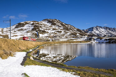 Switzerland, Canton of Uri, Lake Oberalpsee and Glacier Express - STSF000591