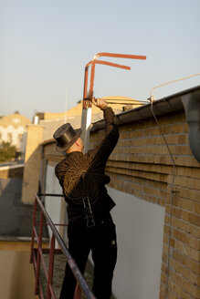 Germany, chimney sweep at work - HCF000081