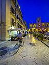 Italy, Sicily, Province of Trapani, Marsala, Old town, Via XI Maggio, Piazza della Repubblica, in the background Palazzo VII Aprile - AMF003235