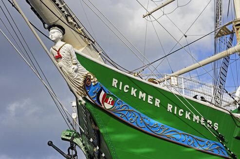 Germany, Hamburg, sailing ship Rickmer Rickmers - MIZ000716