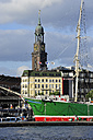 Germany, Hamburg, sailing ship Rickmer Rickmers and St. Michaelis Church - MIZ000718