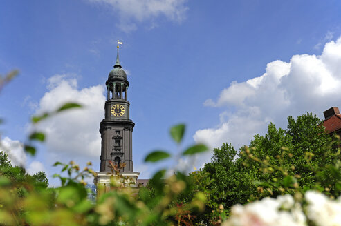 Germany, Hamburg, tower of St. Michaelis Church - MIZF000732
