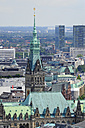 Germany, Hamburg, cityscape with town hall - MIZF000736