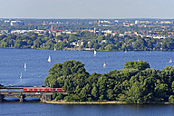 Germany, Hamburg, Alster Lake - MIZ000750