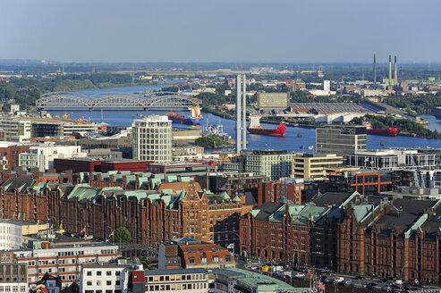 Germany, Hamburg, harbor, Speicherstadt and Hafencity - MIZF000753
