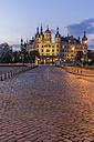 Germany, Mecklenburg-Vorpommern, Schwerin, Schwerin Palace at dusk - PVCF000182