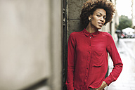 Young woman wearing red blouse - EBSF000372