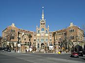 Spain, Catalonia, Barcelona, view to Hospital de la Santa Creu i Sant Pau - HLF000779