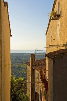 Italy, Tuscany, Castagneto Carducci, View to sea - UMF000717