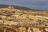 Turkey, Goereme National Park, Goereme and Uchisar in morning light - SIEF006271