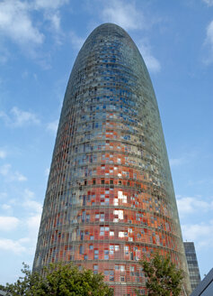 Spain, Catalonia, Barcelona, view to Torre Agbar - HLF000774