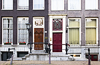 Netherlands, Amsterdam, facades of two old residential houses - FCF000501