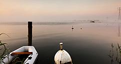 Netherlands, Waterland, Ijsselmeer at blue hour - FCF000524