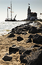 Netherlands, Waterland, Marken, Ijsselmeer, lighthouse Paard van Marken - FCF000533