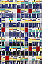 Germany, North Rhine-Westphalia, Duesseldorf, Colourful facade of an office building - THA000960