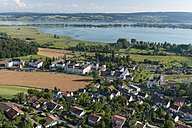 Germany, Baden-Wuerttemberg, Lake Constance, aerial view of Hegne with abbey - SHF001709
