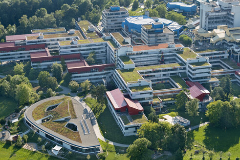 Germany, Baden-Wuerttemberg, Lake Constance, aerial view of university campus - SH001695