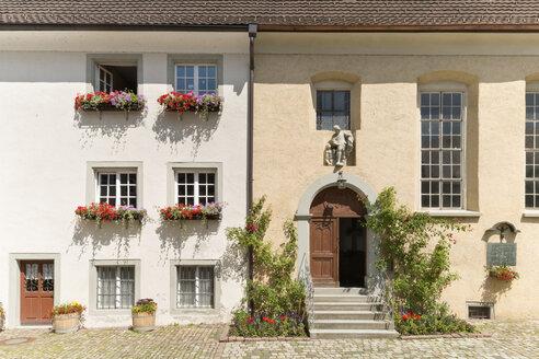 Austria, Vorarlberg, Bregenz, historical house fronts at Martinsgasse - SHF001653