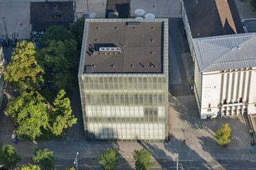 Austria, Vorarlberg, Bregenz, aerial view of Kunsthaus - SH001648