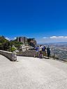 Italy, Sicily, Province of Trapani, Erice, Castello di Venere, Tourists - AM003292