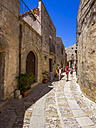 Italy, Sicily, Province of Trapani, Erice, Old town, lane - AM003285