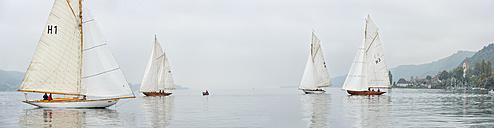 Germany, Baden-Wuerttemberg, Lake Constance, sailing regatta near Bodman - SH001730