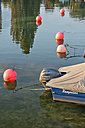 Germany, Baden-Wuerttemberg, Lake Constance, Unteruhldingen, motor boat in harbor - SH001780