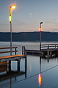 Germany, Baden-Wuerttemberg, Lake Constance, Sipplingen, harbor in the evening - SHF001807
