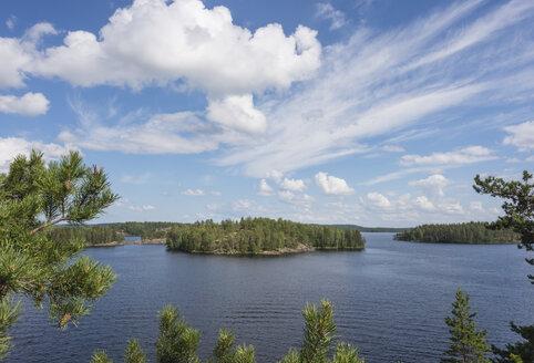 Finland, Southern Savonia, Mikkeli, lake Saimaa with island - JBF000162