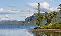 Sweden, Lapland, Norrbotten County, Kvikkjokk, lake Saggat with small island - JBF000194