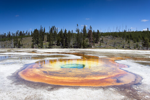 USA, Wyoming, Yellowstone National Park, Chromatic Spring - NNF000140