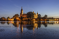 Germany, Mecklenburg-Vorpommern, Schwerin, castle in the evening - PVCF000243