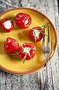 Pickeled cherry peppers, filled with cream cheese, studio - SBDF001465