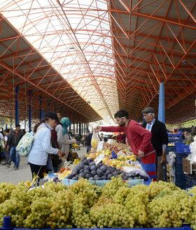 Turkey, Seferihisar, market hall - BFR000640