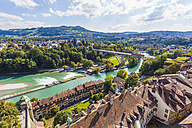 Switzerland, Bern, old town, cityscape with River Aare - WDF002740